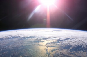 The Sun Rises over the Earth