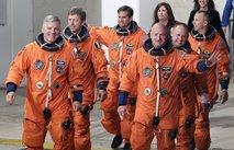 Endeavor Crew:Mark Kelly, Greg Johnson, Mike Fincke, Drew Feustel, Roberto Vittori, Greg Chamitoff