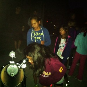 Kids at the Telescope