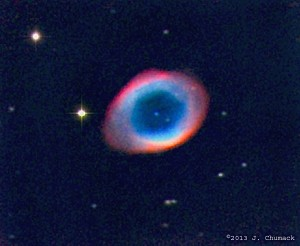 The Ring Nebula, M57 in Lyra, by John Chumack
