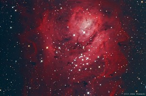 M8, The Lagoon Nebula in Sagittarius, by John Chumack