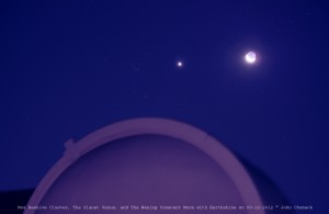 M44, Venus and Moon