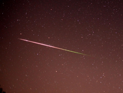 Photograph of a Meteorite from the Perseid Shower