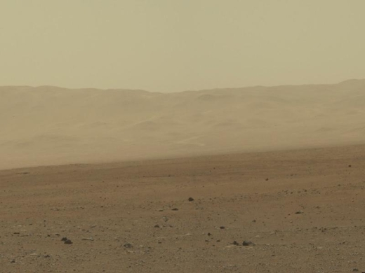The Gale Crater on the Martian surface