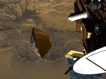 Descent of Beagle 2 Lander