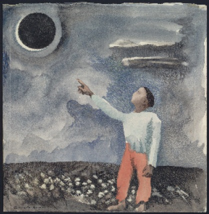 Nat Turner's vision of a black angel - lunar eclipse