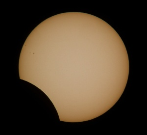 Image of partial solar eclipse